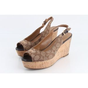 COACH Ferry Signature Platform Wedge Sandal